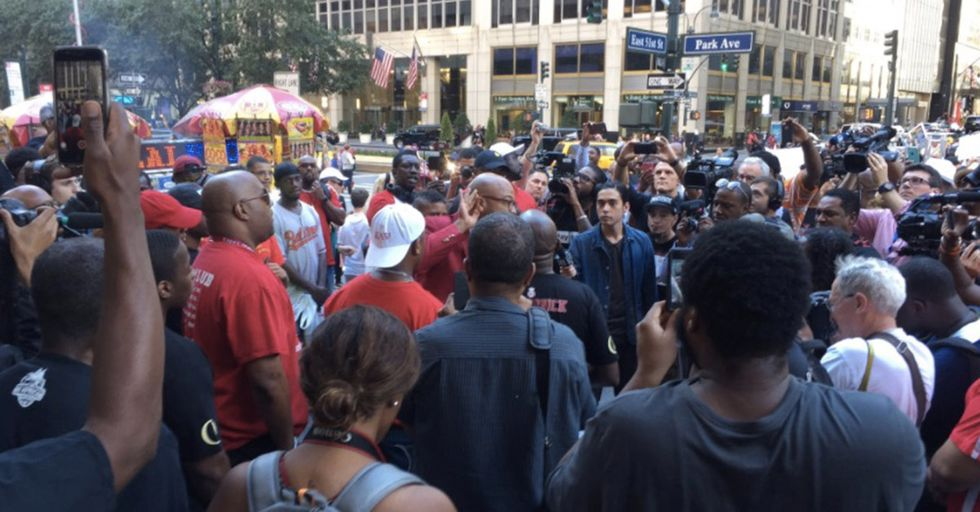 More Than 1,000 Colin Kaepernick Supporters Protested Outside The NFL's Manhattan Headquarters