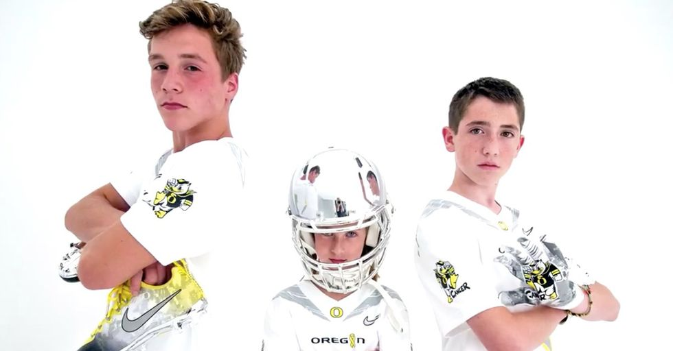 University of Oregon Unveils New Uniforms Designed By Three Kids Battling Cancer