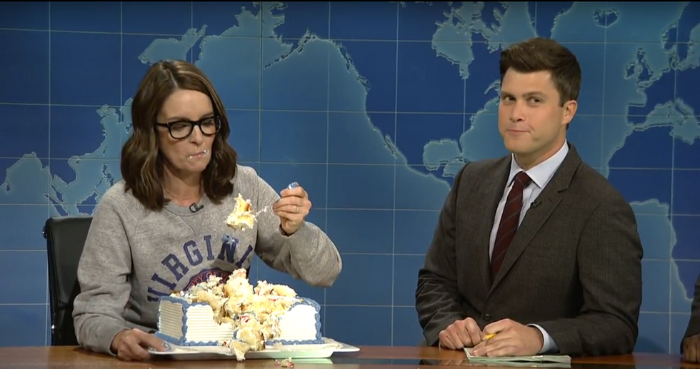 Not Everyone Is Happy With Tina Fey's Cake-Eating Bit