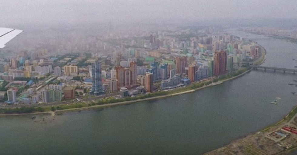 This Rare Aerial Video Of North Korea's Pyongyang Paints An Eerie Picture Of The Sprawling Cityscape