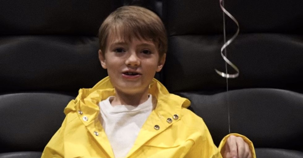 This Child Actor From 'It' Filmed A Creepy And Effective PSA To Keep People Off Phones At Movies
