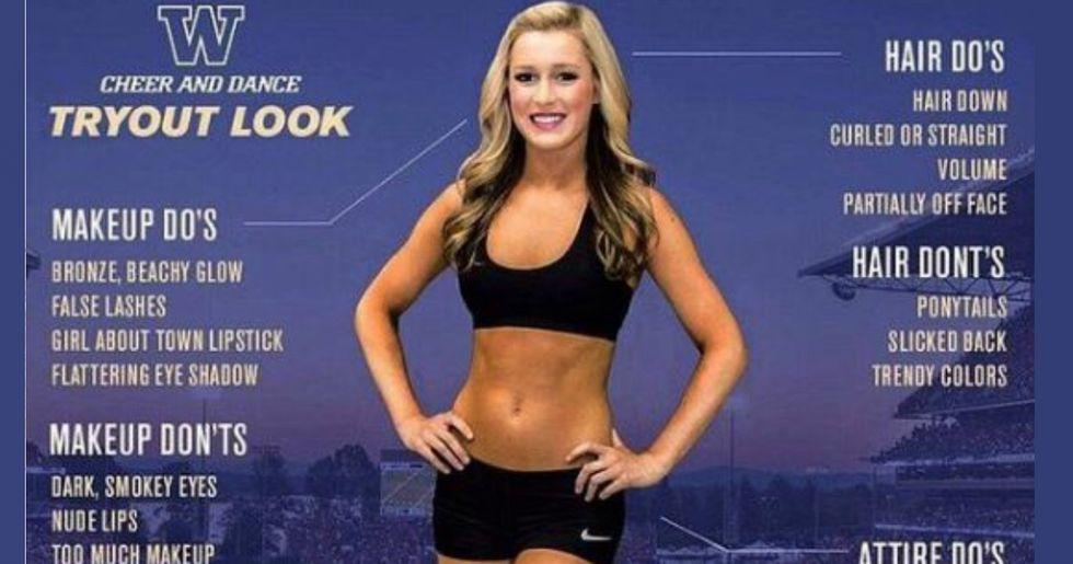 University Of Washington Cheerleading Infographic Creates An Uproar