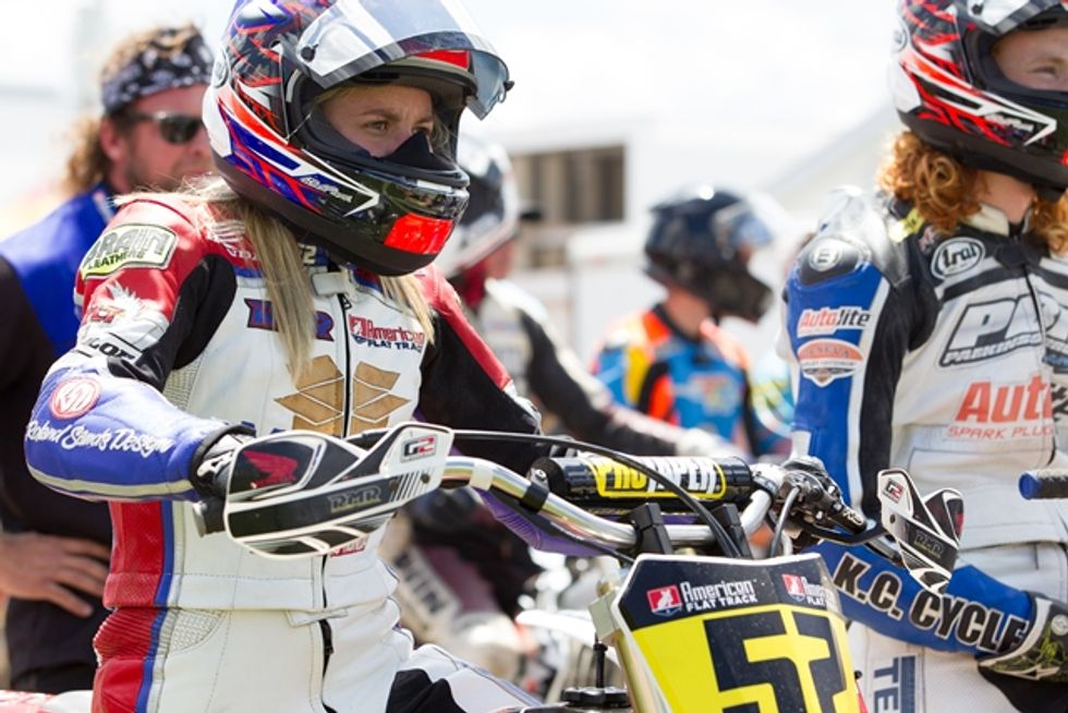 Female Motorcycle Racer Rips A New Trail