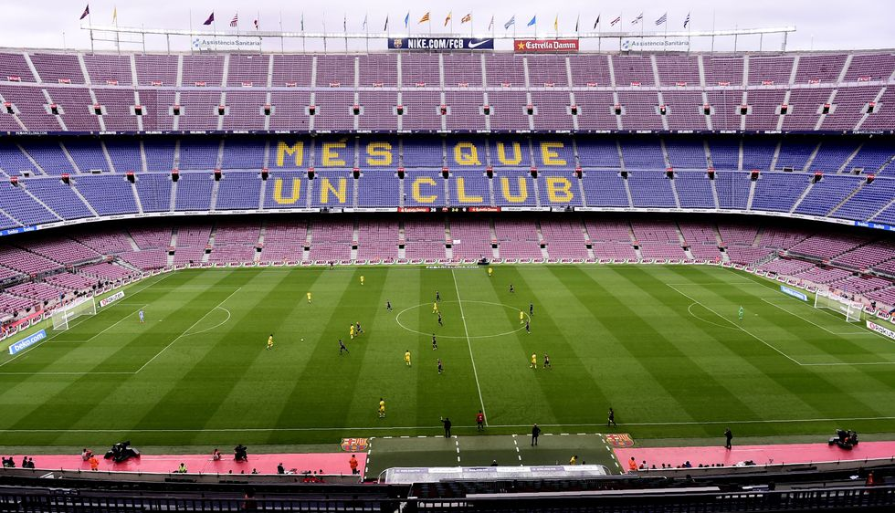 Civil Unrest Caused Barcelona To Play Their Soccer Match In A Completely Empty Stadium