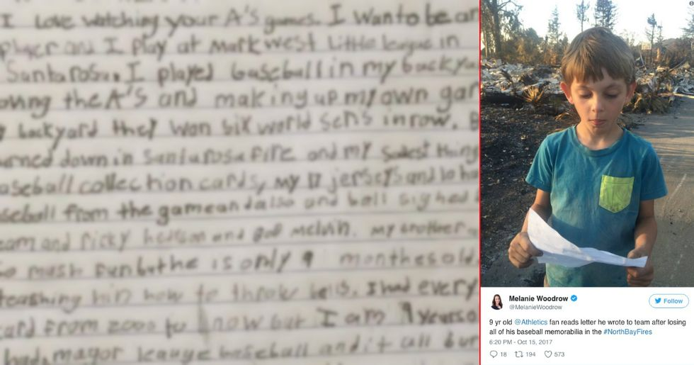 When A Young Baseball Fan Lost Everything In The California Fires, The Sports World Helped Him In An Amazing Way