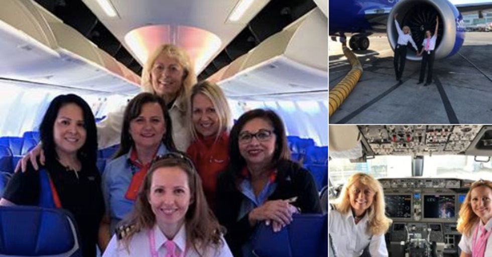 Southwest Airlines Offers Their Take On An 'Unmanned' Flight With An All-Female Crew