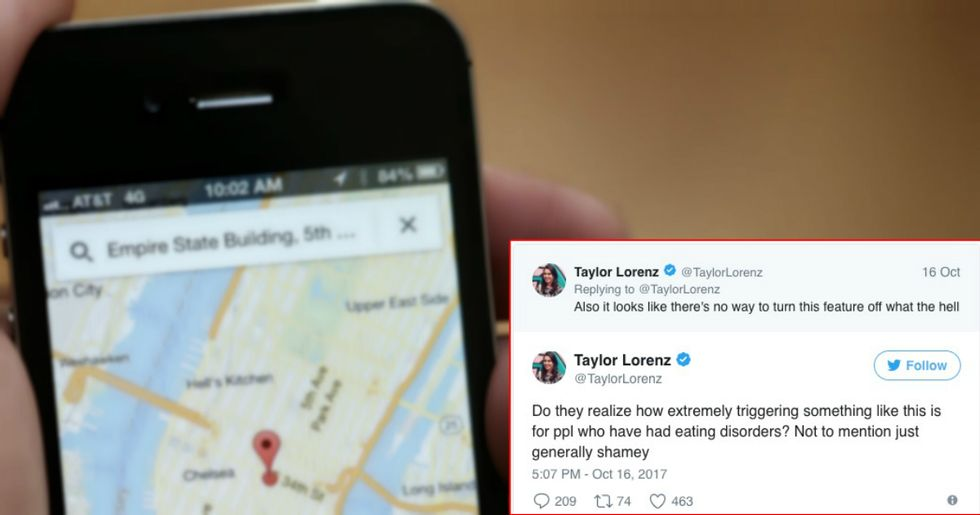 Google Maps Removes New Feature After Critics Say It Triggers And Shames Those With Eating Disorders