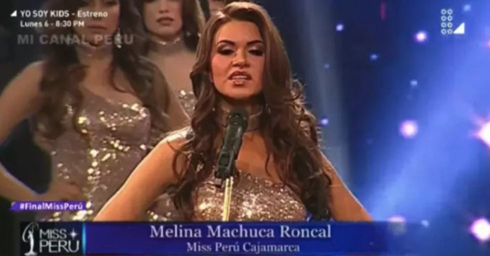 Beauty Pageant Contestants Go Off-Script To Stand Up For Women's Rights