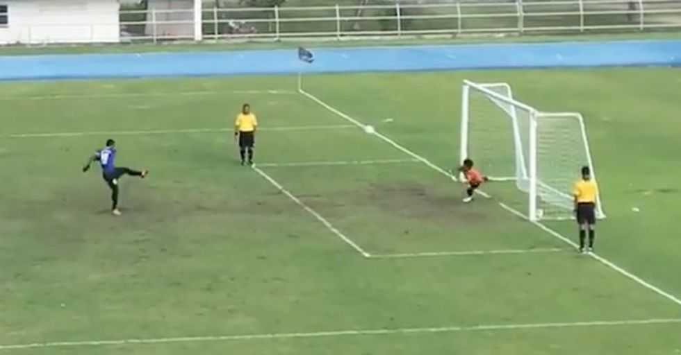 A Goalkeeper's Embarrassing Slip-Up Shows Why You Always Wait For The Play To End Before Celebrating