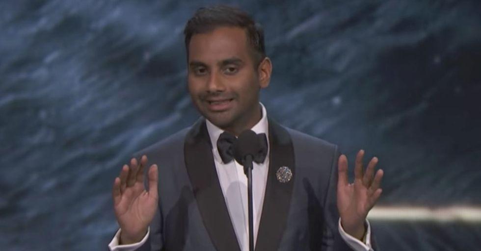 Aziz Ansari Was Shockingly (And Hilariously) Honest During His Acceptance Speech For A Britannia Award