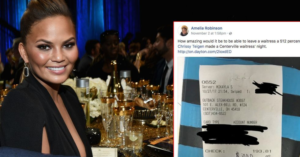 Chrissy Teigen Made A Restaurant Worker's Day With A Staggeringly Large Tip