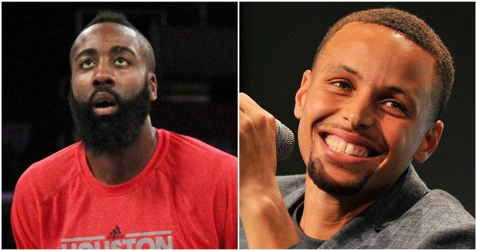 Steph Curry And James Harden Are Hiding The Nike Logos On Their Socks