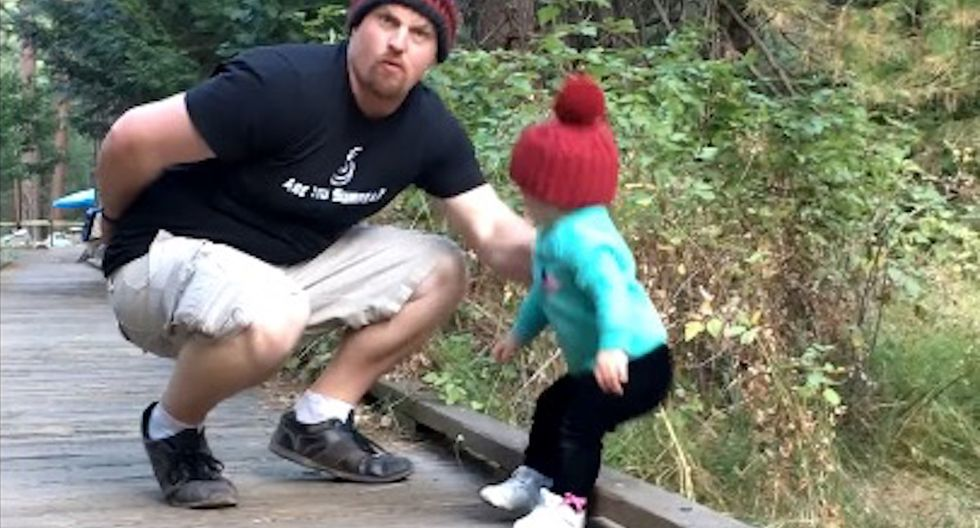 Random Act Of Sports: Dad Shows Off Lightning-Fast Reflexes As He Saves His Daughter From Falling Off A Bridge