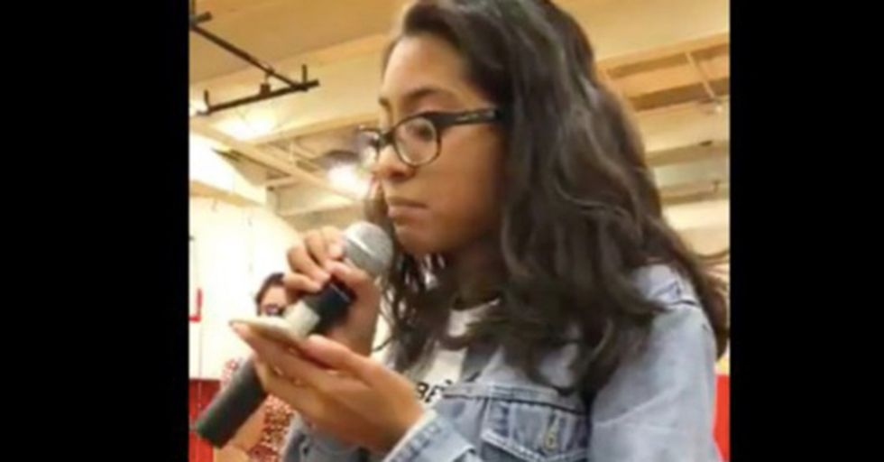 A Tenacious High School Sophomore Grills Her Congressman As He Dodges A Question About Her Family's Fate