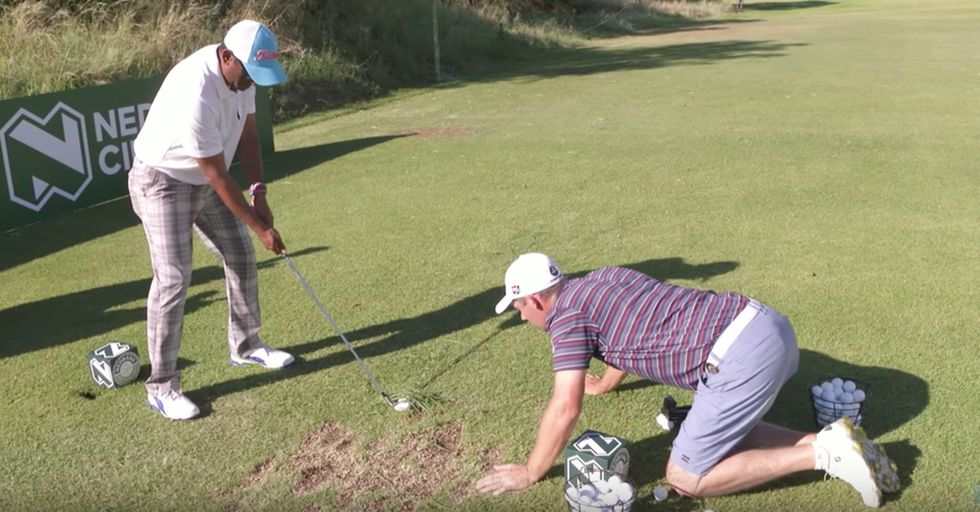 Pro Golfers Prank Players By Giving Them Absolutely Terrible Advice On The Course