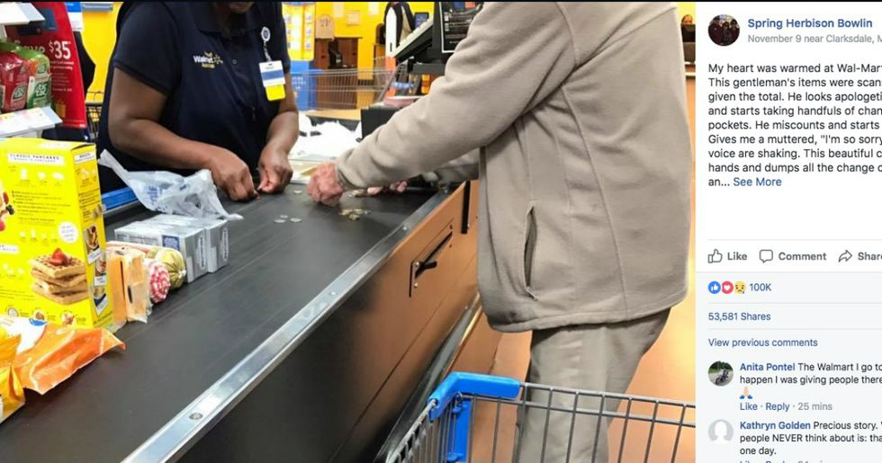 Photo Of Walmart Cashier's Act Of Kindness Gets The Viral Treatment It Deserves
