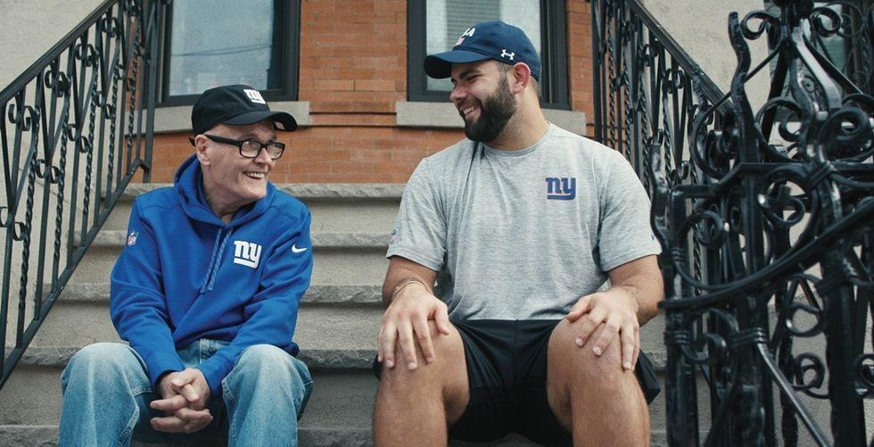 Watch: A New York Giants Player's Heartwarming Friendship With His Next-Door Neighbor