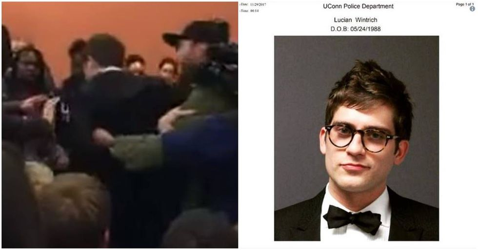 Lucian Wintrich's 'It's OK To Be White' Speech At University Of Connecticut Ends In His Arrest