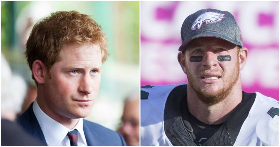 Twitter Is Freaking Out Over The Resemblance Between Carson Wentz And Prince Harry
