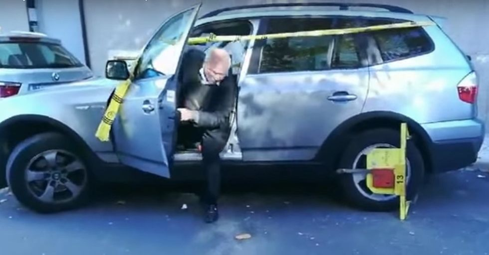 Random Act Of Sports: This Man Doesn't Let A Parking Boot Keep Him From Making His Flight
