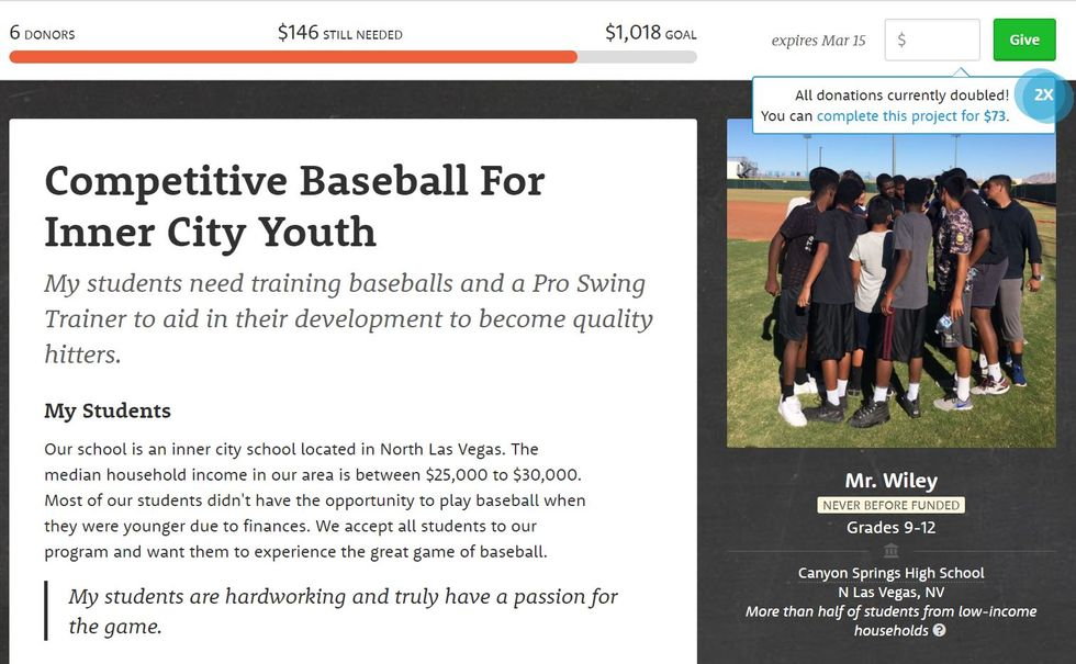 Worthy Cause Countdown: This High School Baseball Team Needs Just $146 For Equipment