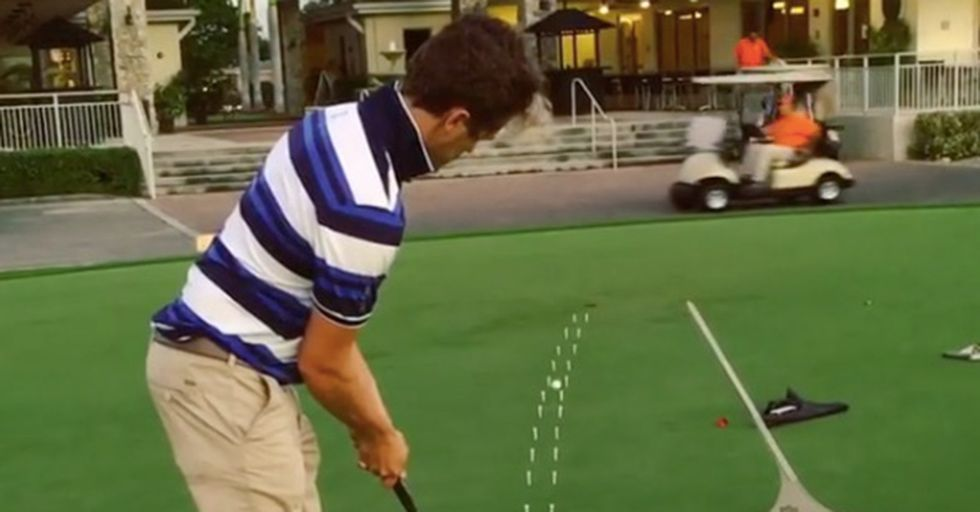 Golfer's Amazing Trick Shot Shows Just How Difficult It Is To Read A Green