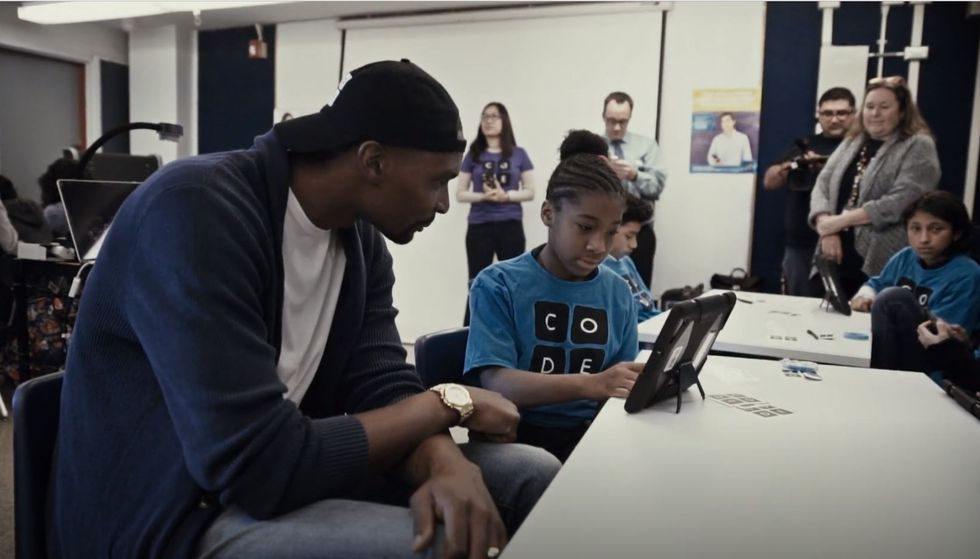 Watch NBA All-Star Chris Bosh Surprise Middle-School Kids To Talk About Coding