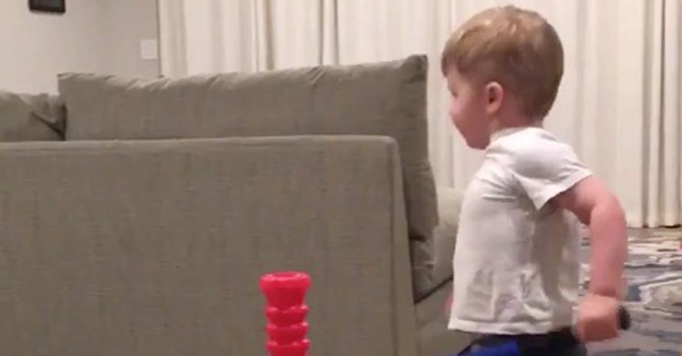 An MLB Player Proudly Shares His Toddler's Impressive Bat-Flipping Skills
