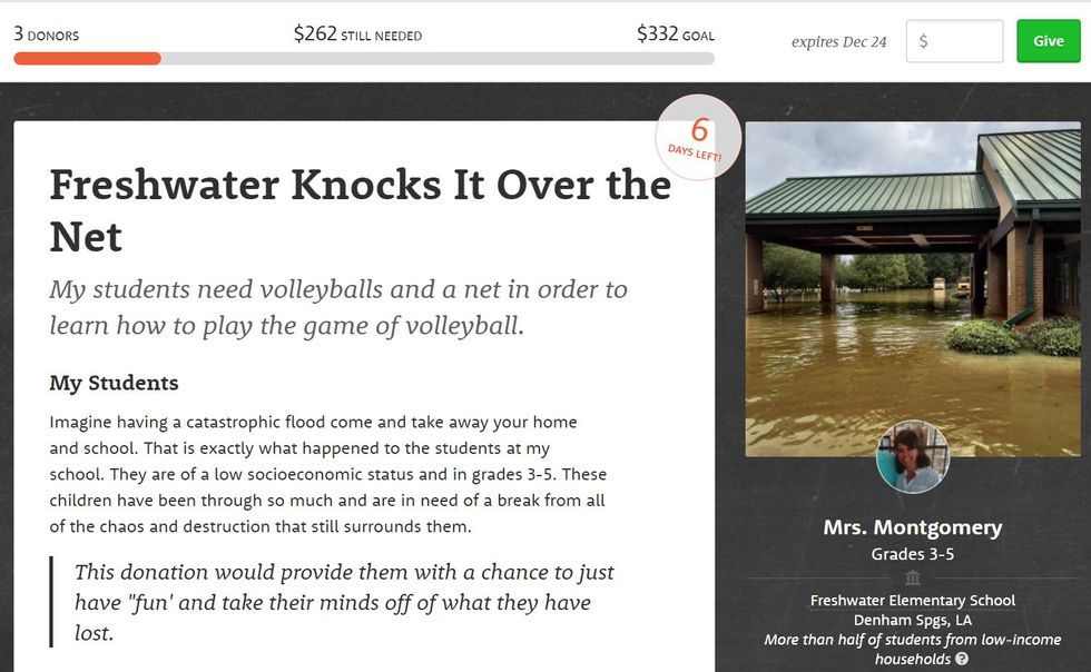 Worthy Cause Countdown: Help Replace The Sporting Equipment This School Lost In A Flood