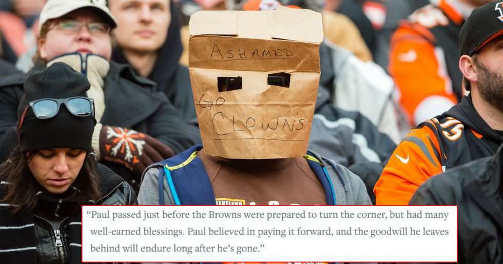 A Browns Fan Used His Obituary To Take One Last Dig At The Pitiful Team