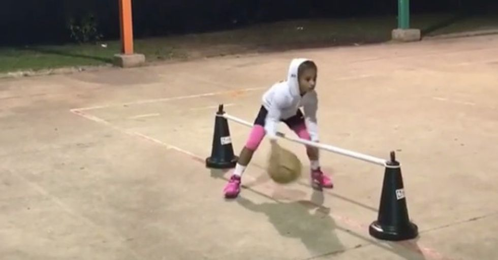 This 8-Year-Old Effortlessly Shows Off Her Globetrotter-Like Basketball Skills