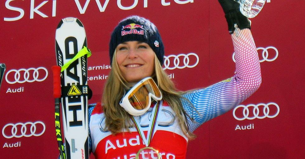 Lindsey Vonn Hits The Slopes In A Captain America Speed Suit