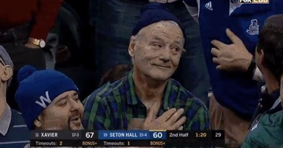 Bill Murray Had A Hilarious Reaction To This College Player's Impressive Dunk