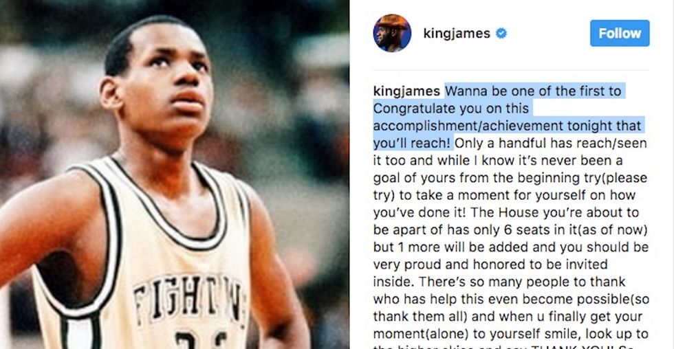 LeBron James Took To Instagram To Congratulate Himself For A Milestone Before He Achieved It