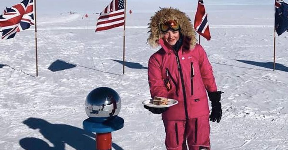 A Teen Adventurer Responded To Trolls' Sexist Remarks With An Awesome Photo From The South Pole