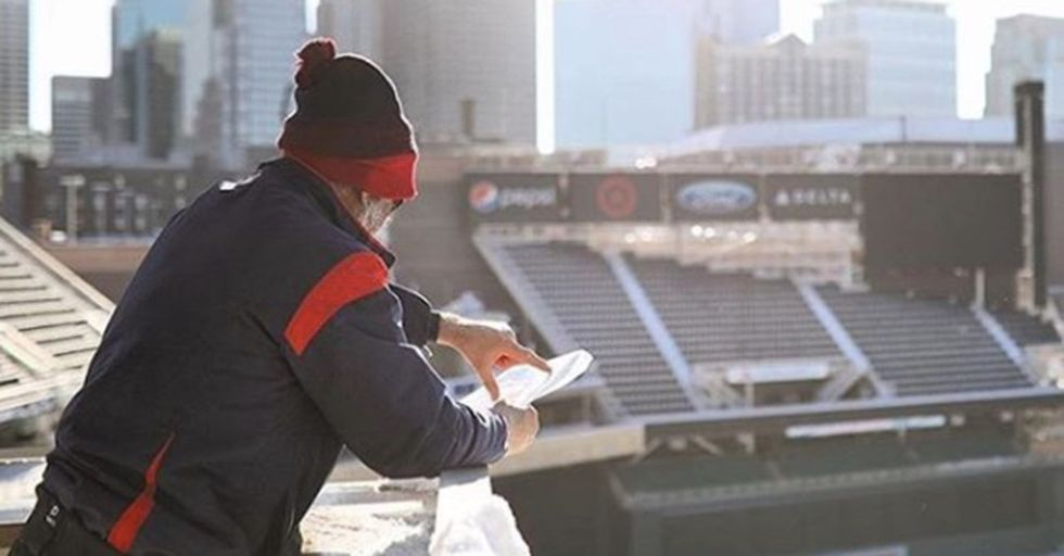 Using Only Snowshoes, An Artist Created An Impressive Sprawling Design On Target Field