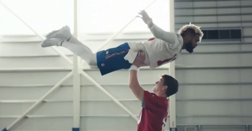 Eli Manning And Odell Beckham Recreated 'Dirty Dancing' For A Hilarious Super Bowl Ad