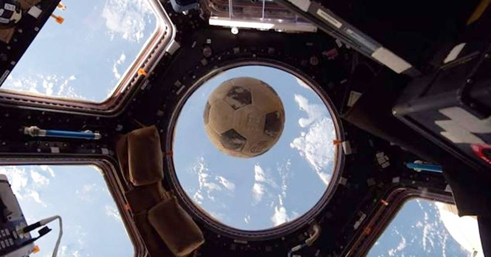 The Bittersweet Reason NASA Launched A Soccer Ball Into Space