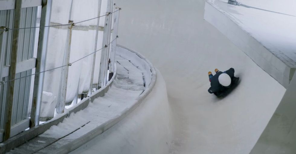 Experiencing A Skeleton Sled Race From A First-Person Perspective Is Terrifying