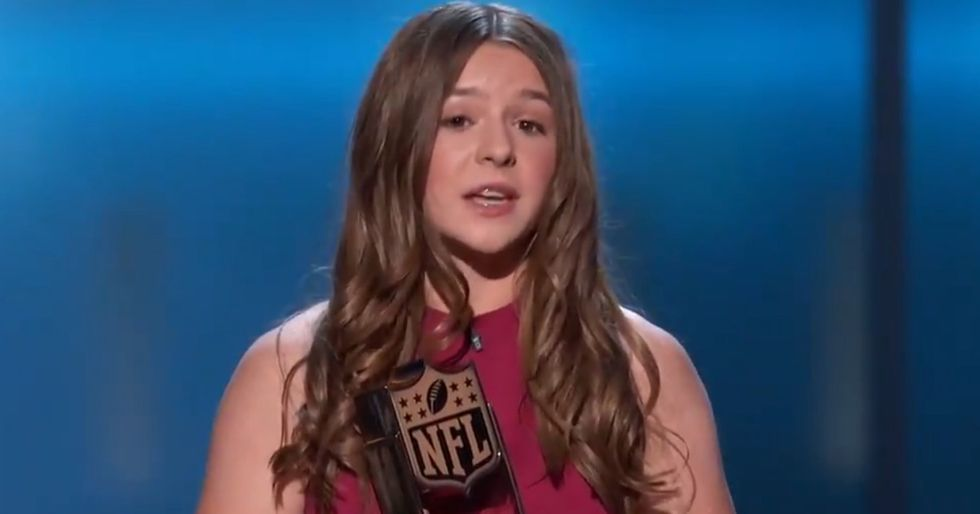 The 14-Year-Old Founder Of A Girls Football League Delivers One Powerful Speech