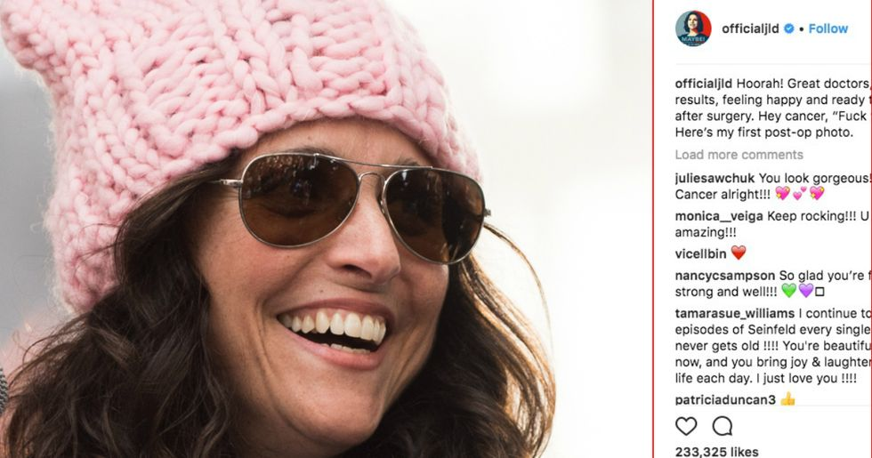 Julia Louis-Dreyfus Offers A Profane And Honest Send-Off To Cancer After Her Surgery