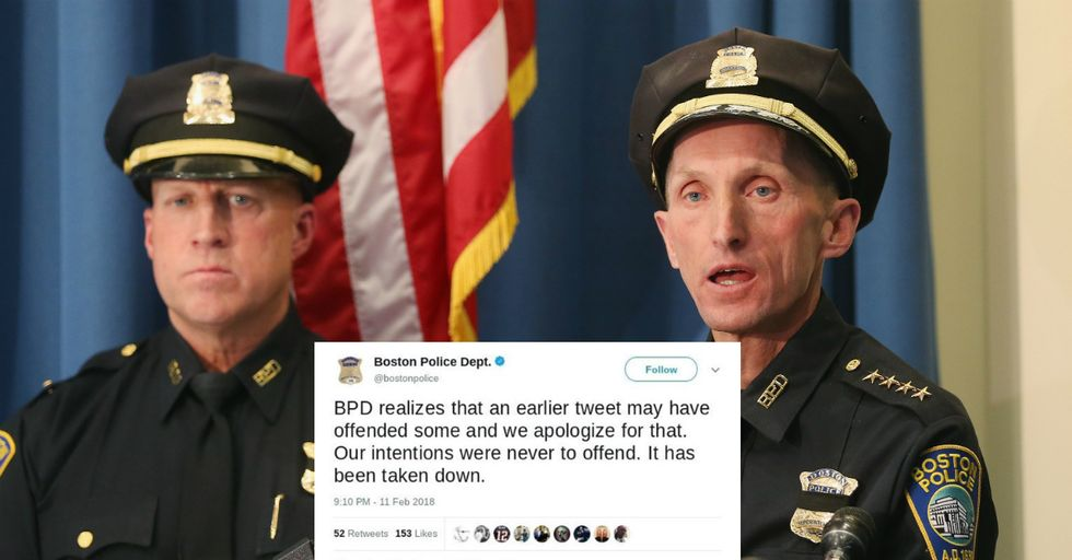 Boston Police Department Celebrates Black History Month By Honoring A White Guy