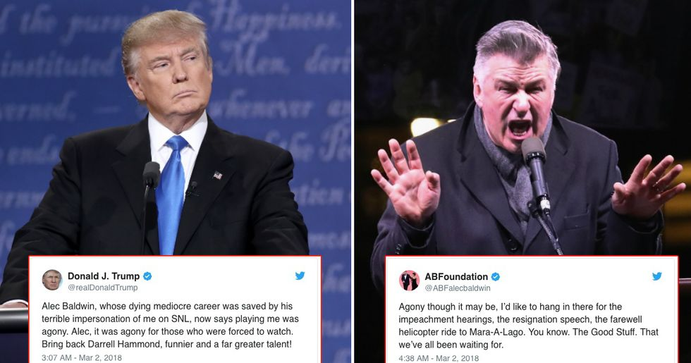 President Trump And Alec Baldwin Are Battling It Out On Twitter