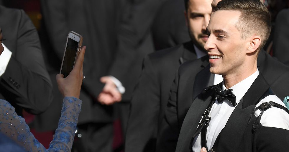 Adam Rippon Wore A Leather Harness To The Oscars