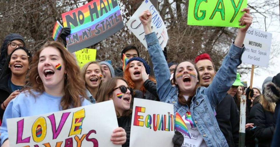 Students Came Out In Droves To Defend A Gay Athlete Protested By The Westboro Baptist Church