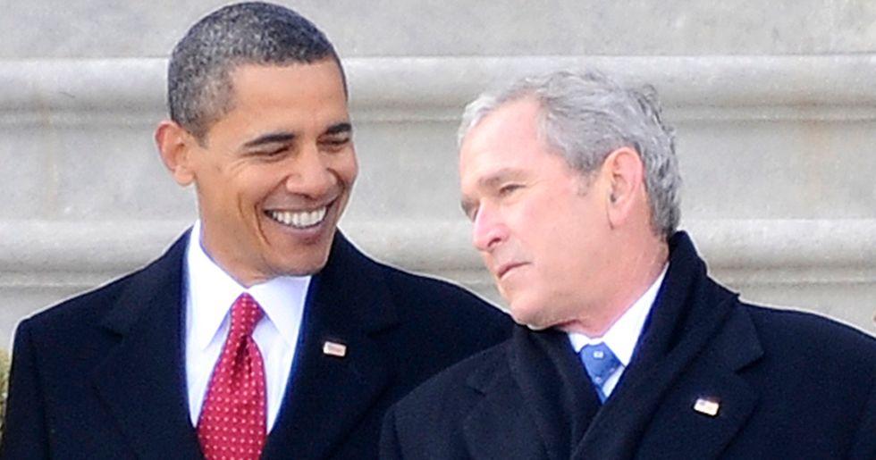 George W. Bush Thinks Trump Makes Him Look 'Pretty Good'