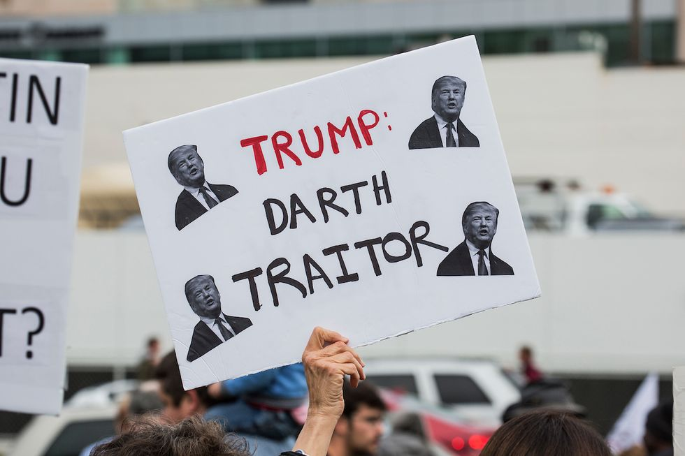 24 Protest Posters And Political Messages From Trump's Visit To L.A.