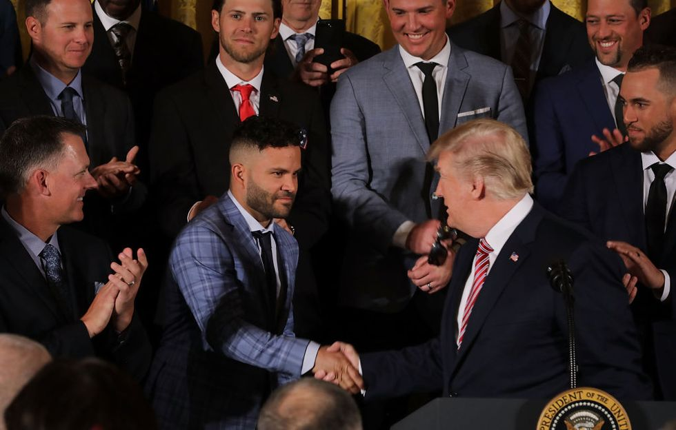 The Astros' Visit To The White House Was As Awkward As Expected