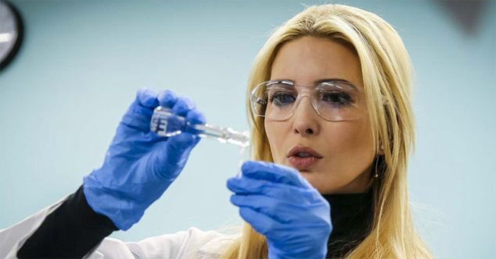 Ivanka Trump's Attempt At 'Scientist Cosplay' In This Photo Has Generated A Hilarious Backlash
