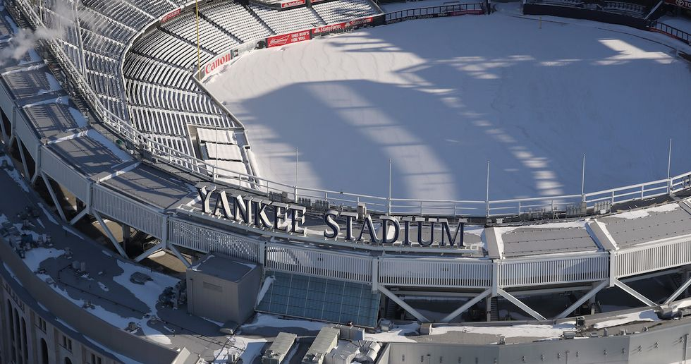 Surreal Pics Show Snow-Filled Yankee Stadium In No Shape For Opening Day